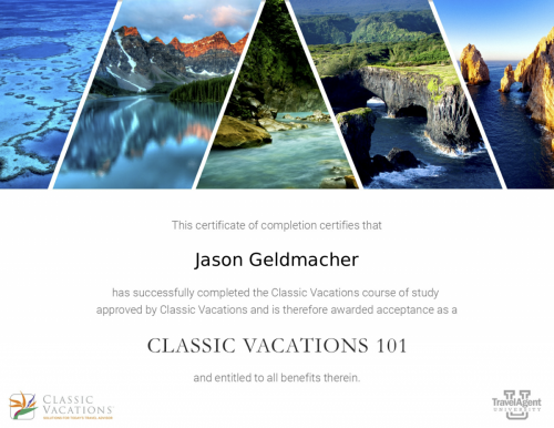 ClassicVacations101 - Recognition