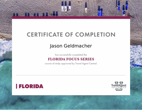 Florida certificate