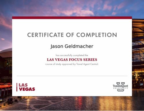 LasVegas certificate