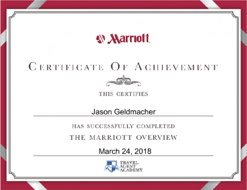 Marriott Specialist Program