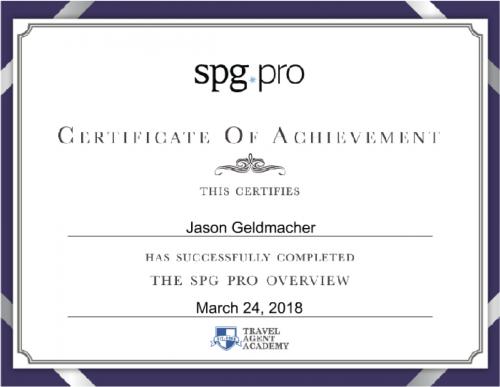 SPGPro Certificate