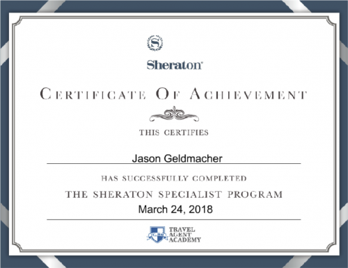 Sheraton Specialist Program