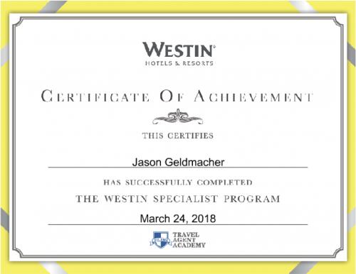Westin Specialist Program